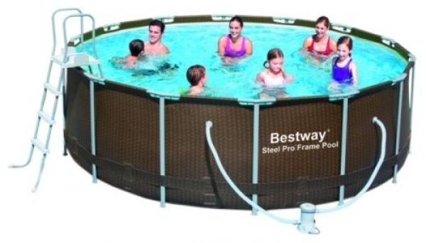 56483 Бассейн каркасный Steel Pro Frame Pool Set 427х122 см Bestway