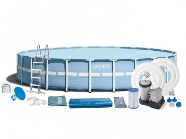 Сборный (каркасный) бассейн 732x132 см, 28762, полный комплект (INTEX)