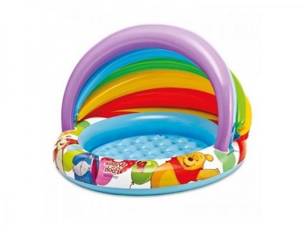 """57424 Детский надувной бассейн 102х69см """"Винни Пух"""" Disney, 45л, от 1 до 3 лет, надувное дно"""