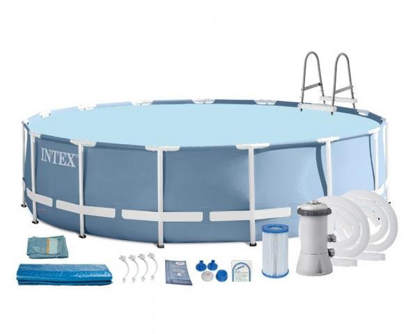 Сборный (каркасный) бассейн 457x107 см, 28734, полный комплект (Intex)