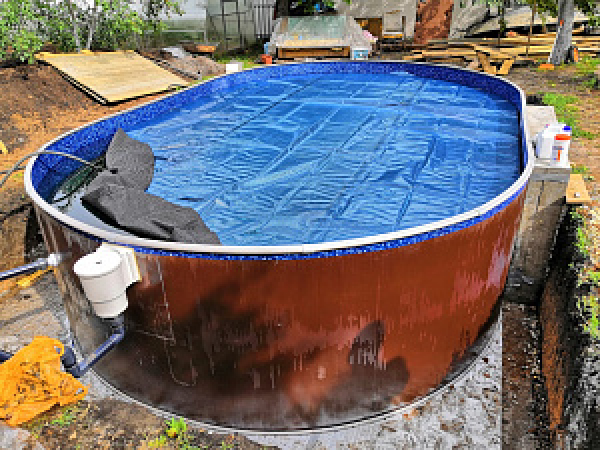 Бассейн стальной морозостойкий Лагуна 6,4 х 3,05 х 1,25 м.