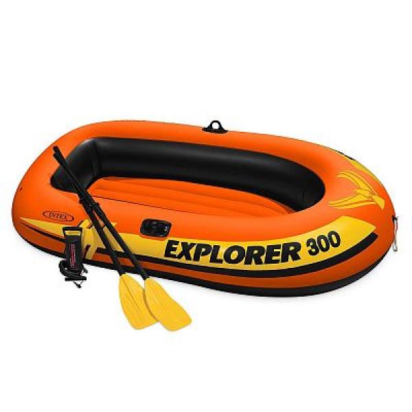 "58358 Надувная лодка ""Explorer Pro 300"" 244х117х36см, вёсла 59623, насос 68612, до 200кг"