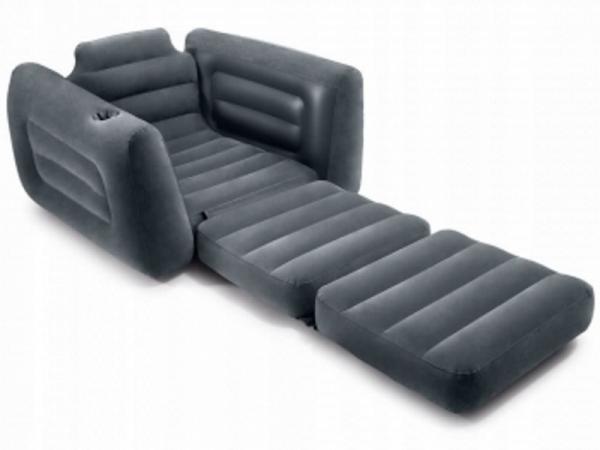 66551 Надувное кресло Intex Pull-Out Chair 117*224*66см без насоса