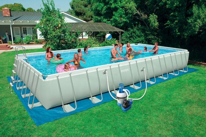 28372 Каркасный бассейн Ultra-Frame Metal Pool 975x488x132 см полный комплект