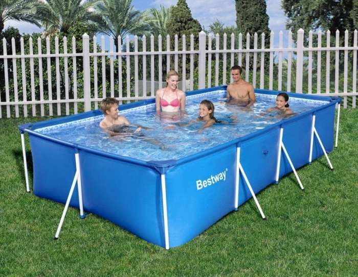 56424 BW Каркасный прямоугольный бассейн 400х211х81 см, 5700 л, фильтр-насос
