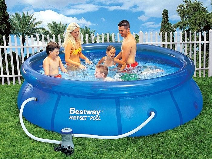 57109 Бассейн надувной Fast Set Pool Set 305х76, насос-фильтр, Bestway