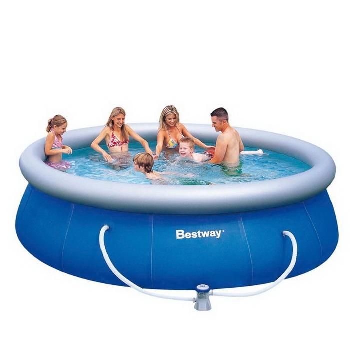 57112 Бассейн надувной Fast Set Pool Set 366х76 см, фильтр-насос Bestway