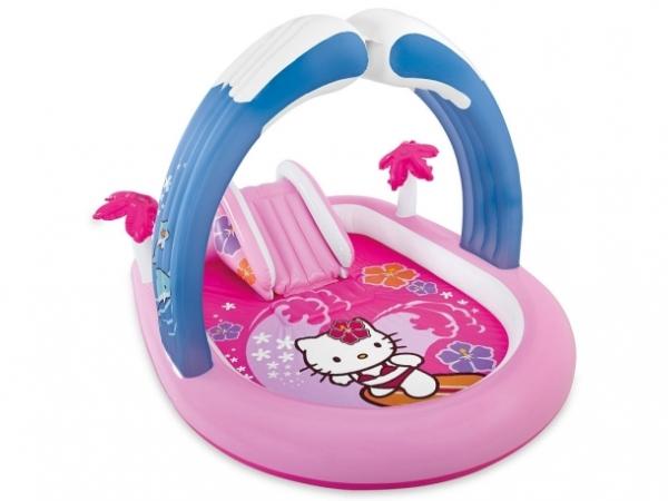 57137 Игровой центр с бассейном Hello Kitty от 2 лет 211*162*120 см Intex