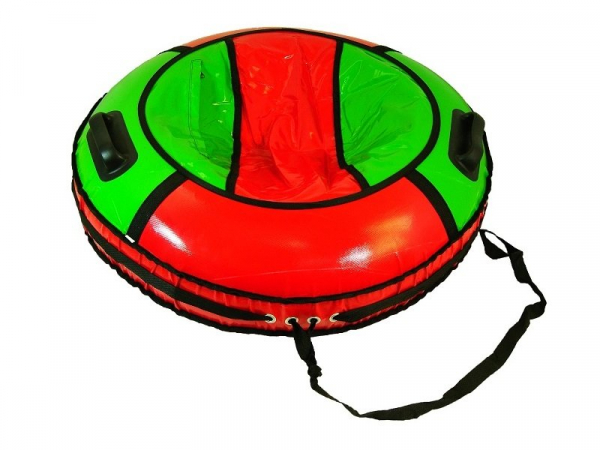 Тюбинг-ватрушка Вихрь Комфорт 80 см с автокамерой, два поручня/поводок, тент пвх