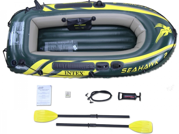 68347 Лодка Seahawk 2 (до 200 кг) 236х114х41см весла, насос