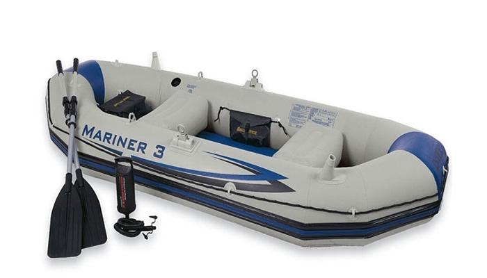 68373 Лодка Mariner 3-местная  297*127*46 см + аксессуары Intex