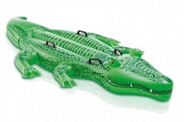 """58562 Надувная игрушка-наездник 203х114см """"Крокодил"""" до 80кг, от 3 лет"""