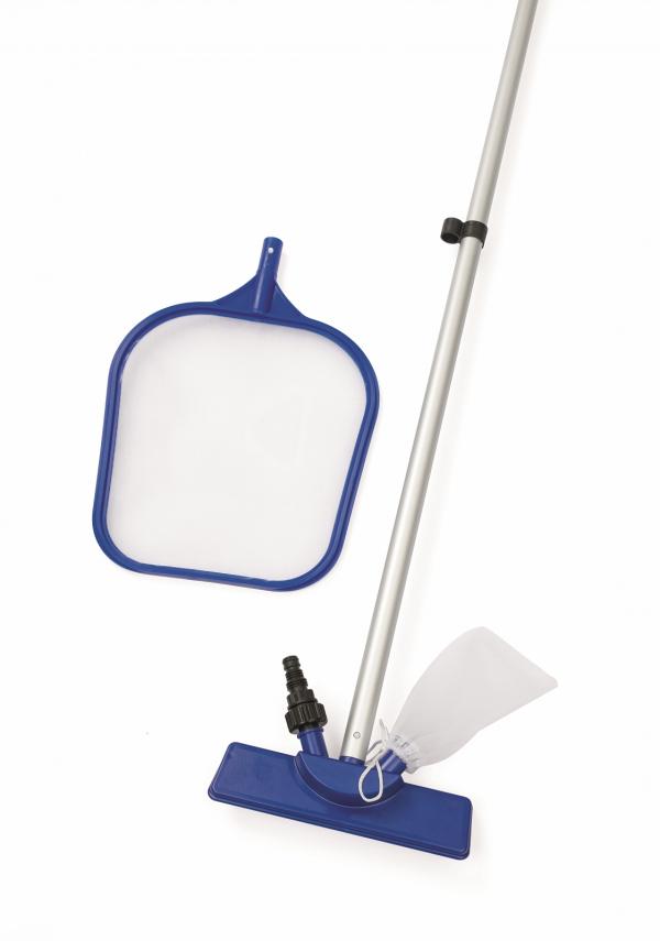 58013 BW, BestWay, Набор для чистки бассейна (сачок, щетка, ручка 174 см), уп.6