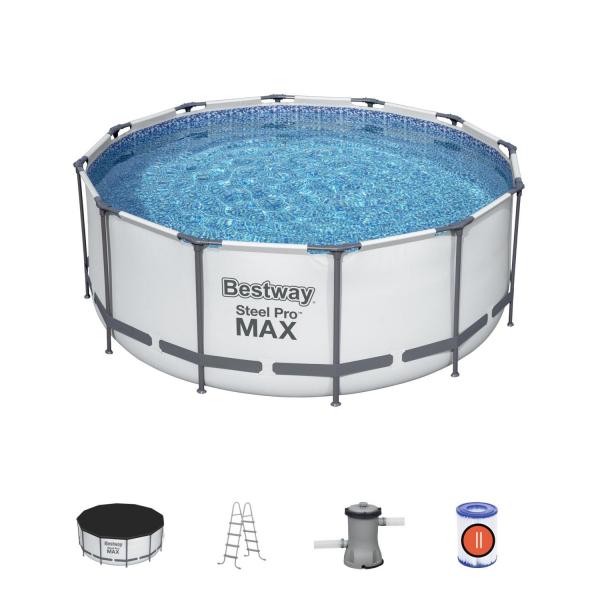 56420 BW Каркасный бассейн, 366х122 см в комплекте 3 аксессуара