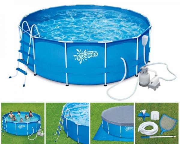 P20-1548-S Каркасный бассейн SUMMER ESCAPES 457*122 см, полный комплект