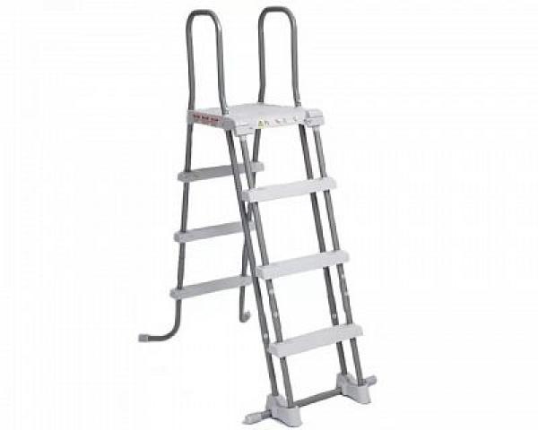 28076 Лестница для бассейнов до 122см, 3 ступеньки, с площадкой, с защитой