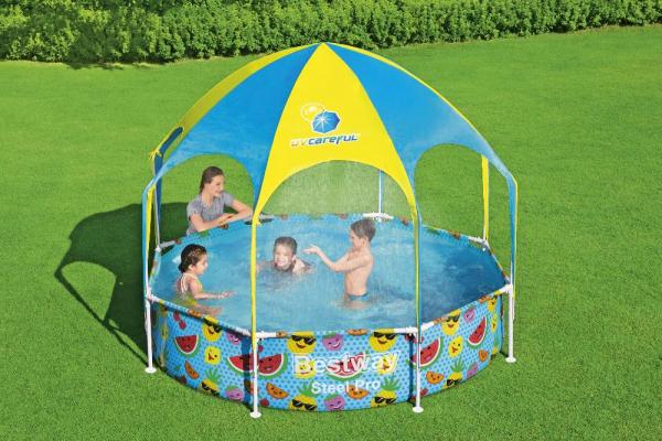 56432 Каркасный бассейн My First Pool 244х51см с навесом, 1688л