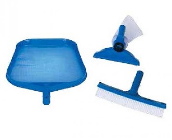 29056 Набор для чистки бассейна до 488см (сачок, щетка, вакуумная насадка с мешком)