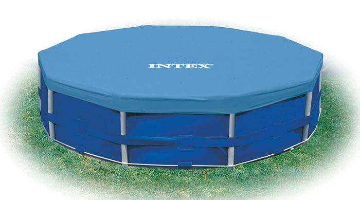 Тент-крышка 457см 28032 Intex для каркасного бассейна