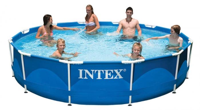 Сборный (каркасный) бассейн 366х99 см с фильтр-насосом и лестницей, 28718 (INTEX)