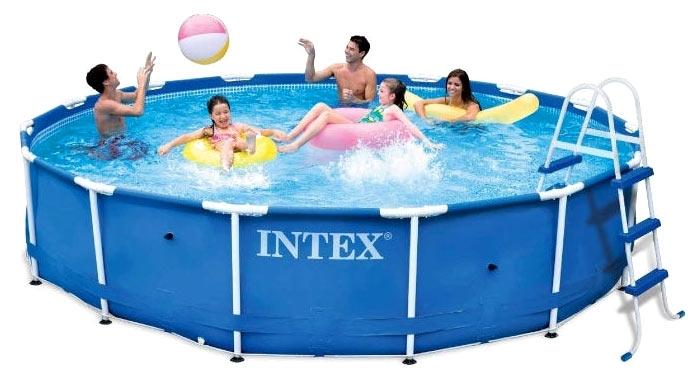 Сборный (каркасный) бассейн 457х91 см, 28232, полный комплект (INTEX)